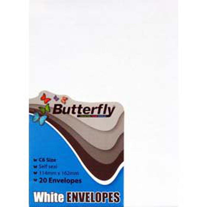 Download Butterfly ENVELOPES SELF SEAL - PPS Stationery